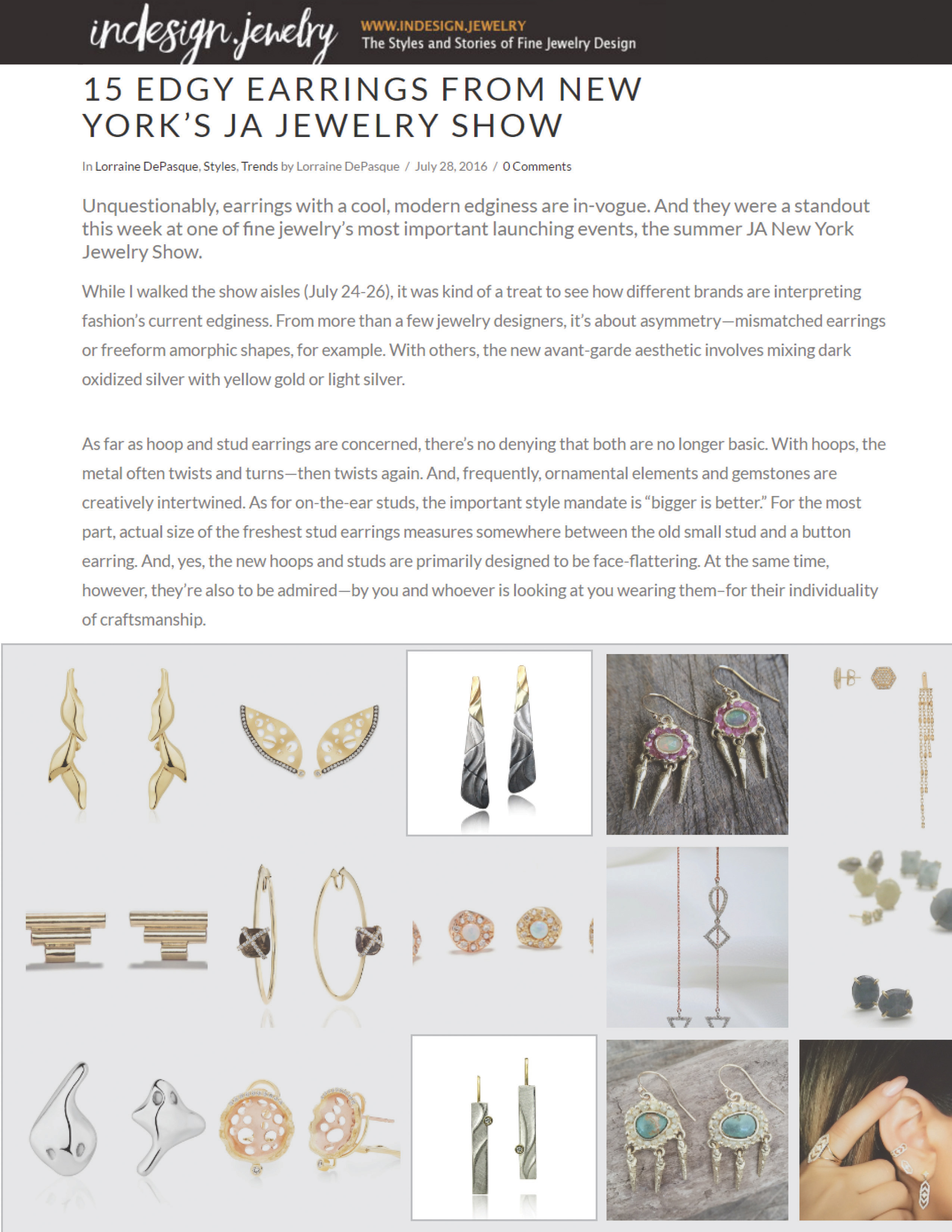 Ombre Earrings and Echo Dangle Earrings from K.Mita | instoremag.com Jul 2016