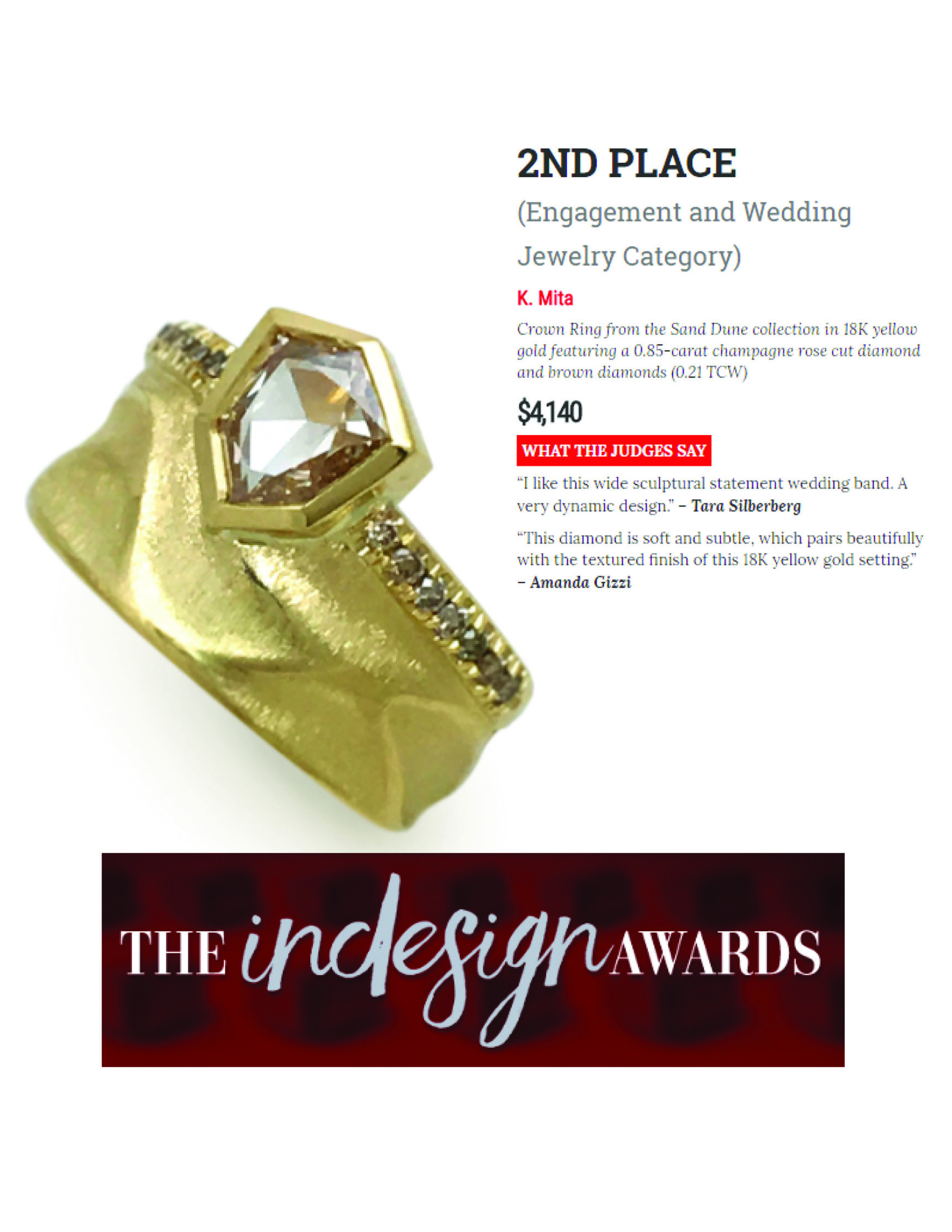 Crown Ring by K.Mita | InDesign Awards 2nd Place (Wedding) | instoremag.com May 2017